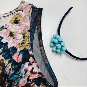 Xhilaration Girls' Floral Fit & Flare Dress Sz XS